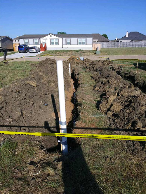 New water lines and sewer lines installation